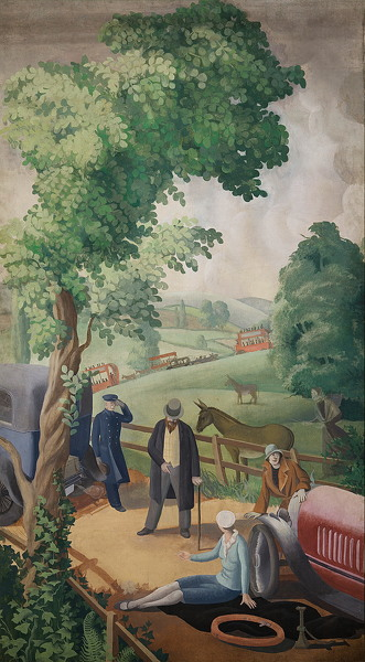 Artist Mary Adshead: An English Holiday - The Puncture, 1928