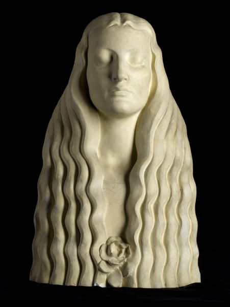 Artist Frederick William George: Head of a girl, cira 1910