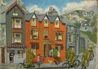 Artist Mary Adshead: Riding into Barmouth 1944