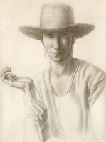 Artist Colin Gill: Portrait of Winnifred Knights, 1921